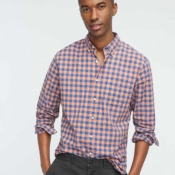 NEW J. Crew Slim Untucked Cotton Poplin Shirt S